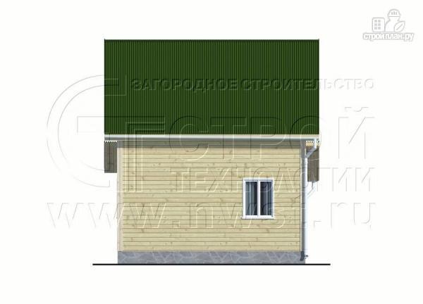 Фото 10: проект дачный дом 6х6 м в полтора этажа с террасой