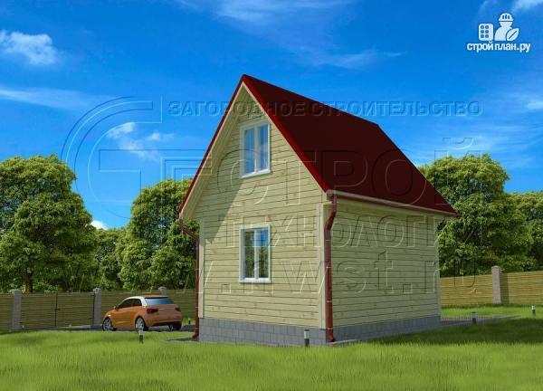 Фото 3: проект небольшой дачный домик 4x5 мсмансардой