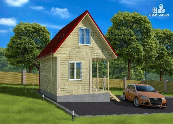 Фото 2: проект небольшой дачный домик 4x5 мсмансардой