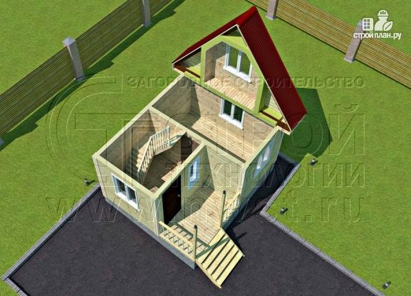 Фото 4: проект небольшой дачный домик 4x5 мсмансардой