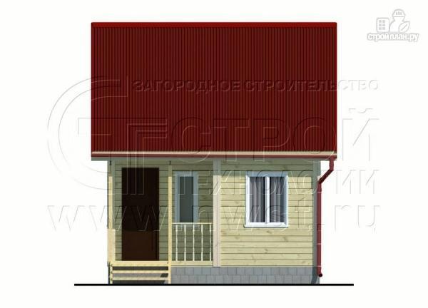 Фото 8: проект небольшой дачный домик 4x5 мсмансардой