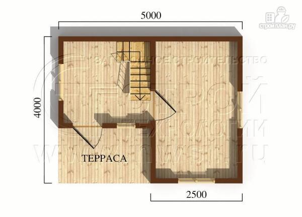 Фото 5: проект небольшой дачный домик 4x5 мсмансардой
