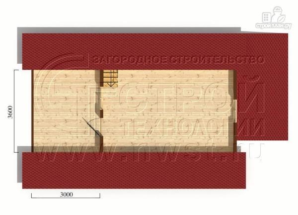 Фото 6: проект дачный дом 6х8 м с террасой и лоджией в мансарде