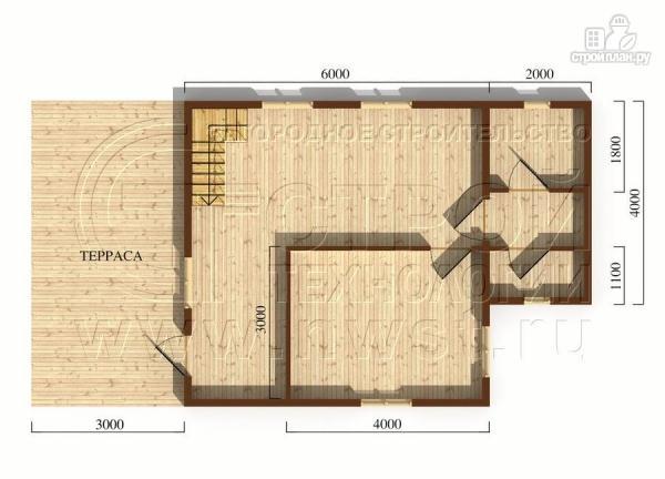 Фото 5: проект дачный дом 6х8 м с террасой и лоджией в мансарде