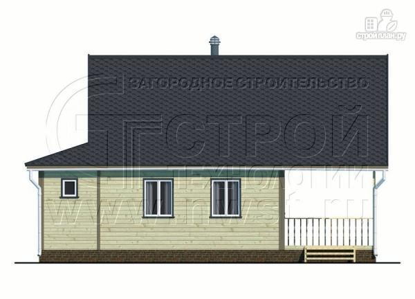 Фото 7: проект дачный дом 6х8 м с террасой и лоджией в мансарде