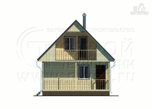 Фото 10: проект дачный дом 6х8 м с террасой и лоджией в мансарде