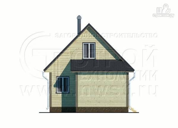 Фото 8: проект дачный дом 6х8 м с террасой и лоджией в мансарде