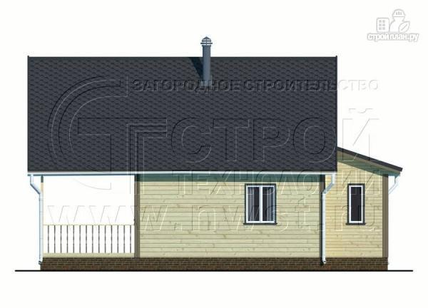 Фото 9: проект дачный дом 6х8 м с террасой и лоджией в мансарде