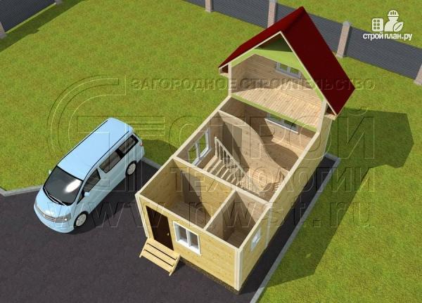 Фото 4: проект дачный дом 4х5 м из бруса