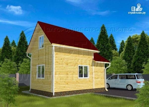 Фото 3: проект дачный дом 4х5 м из бруса