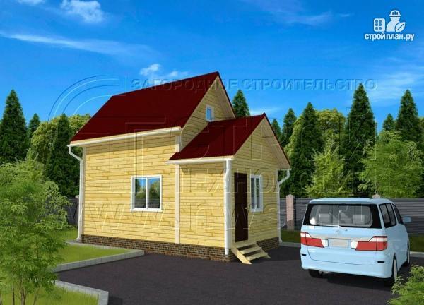 Фото 2: проект дачный дом 4х5 м из бруса