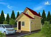 Проект дачный дом 4х5 м из бруса