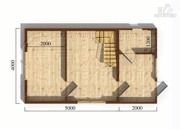 Фото 5: проект дачный дом 4х5 м из бруса