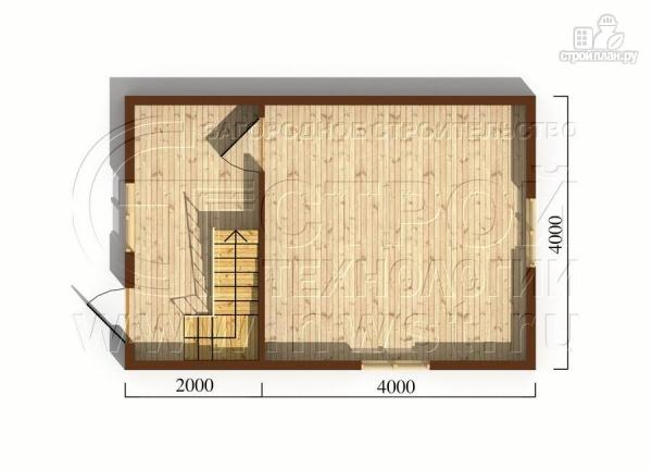 Фото 5: проект дачный дом 4х6 м смансардой