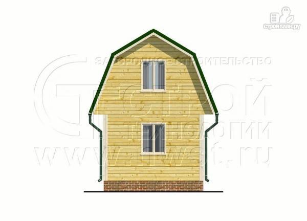 Фото 7: проект дачный дом 4х6 м смансардой