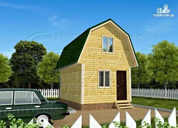 Фото 2: проект дачный дом 4х6 м смансардой