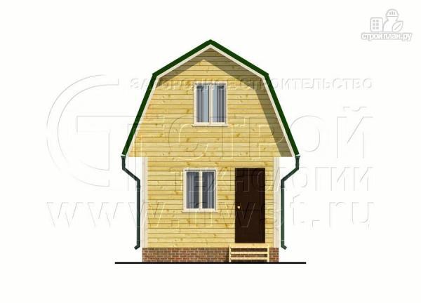 Фото 9: проект дачный дом 4х6 м смансардой