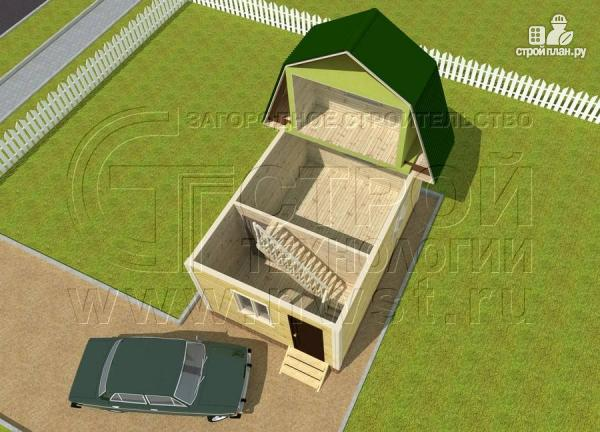 Фото 4: проект дачный дом 4х6 м смансардой