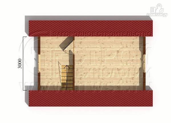 Фото 6: проект дачный дом 4х6 м смансардой