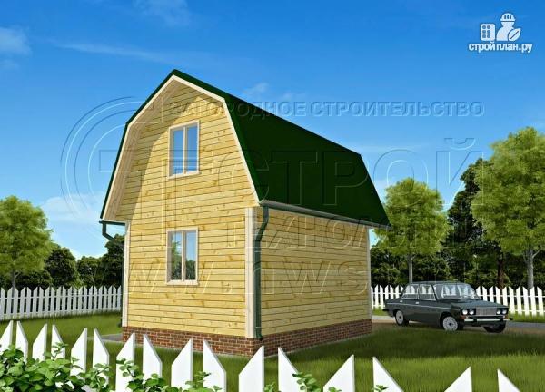 Фото: проект дачный дом 4х6 м смансардой