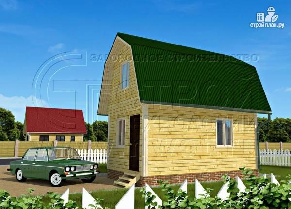 Фото 3: проект дачный дом 4х6 м смансардой