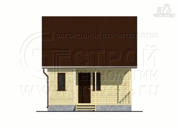 Фото 7: проект дачный дом 6х4 м с мансардой и террасой