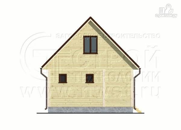 Фото 10: проект дачный дом 6х4 м с мансардой и террасой