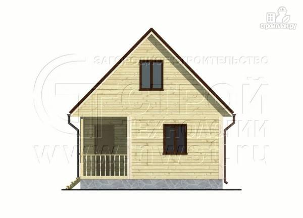 Фото 8: проект дачный дом 6х4 м с мансардой и террасой