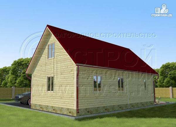 Фото 3: проект дачный дом 6х6 м с мансардным этажоми террасой 20 м2