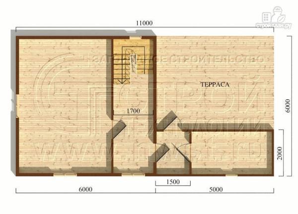 Фото 5: проект дачный дом 6х6 м с мансардным этажоми террасой 20 м2