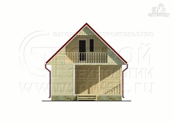 Фото 7: проект дачный дом 6х6 м с мансардным этажоми террасой 20 м2