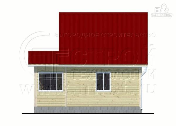 Фото 10: проект дачный дом 6х7 м с мансардой, верандой и крыльцом