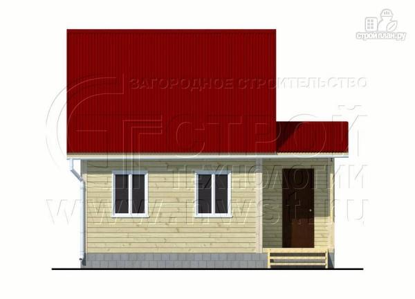 Фото 8: проект дачный дом 6х7 м с мансардой, верандой и крыльцом