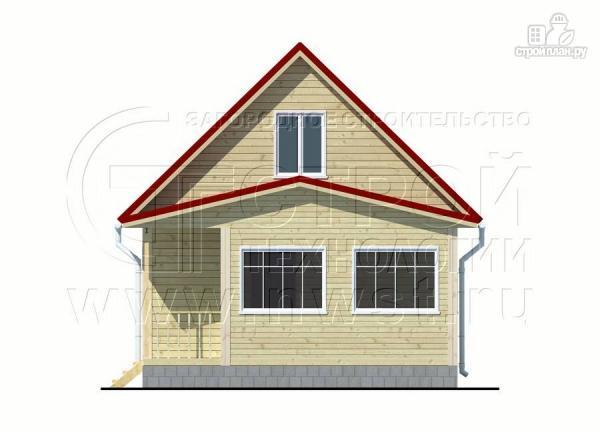 Фото 7: проект дачный дом 6х7 м с мансардой, верандой и крыльцом