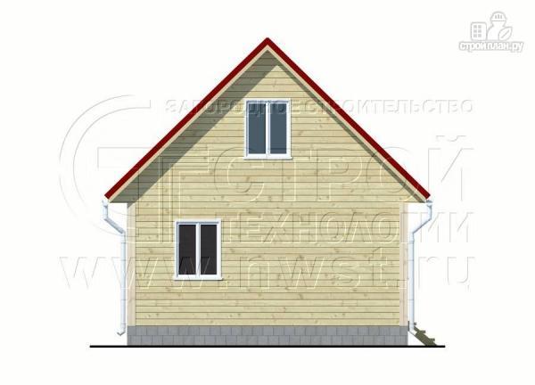 Фото 9: проект дачный дом 6х7 м с мансардой, верандой и крыльцом