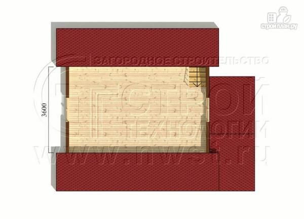 Фото 6: проект дачный дом 6х6 м из бруса с террасой