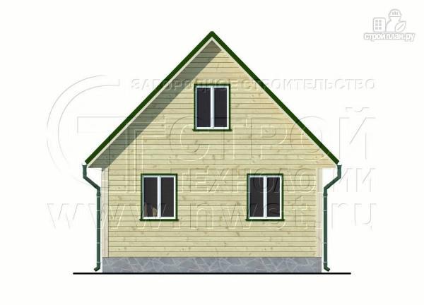 Фото 7: проект дачный дом 6х6 м из бруса с террасой