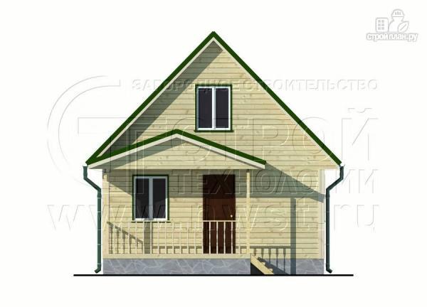 Фото 9: проект дачный дом 6х6 м из бруса с террасой