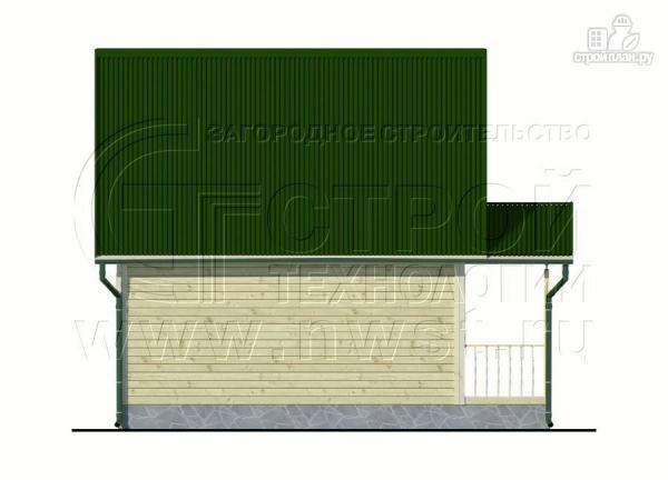 Фото 10: проект дачный дом 6х6 м из бруса с террасой