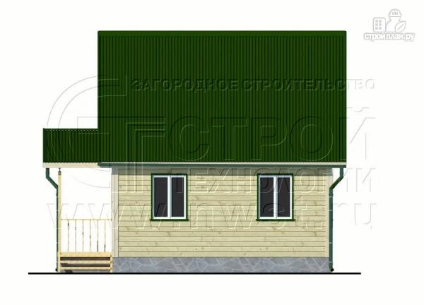 Фото 8: проект дачный дом 6х6 м из бруса с террасой