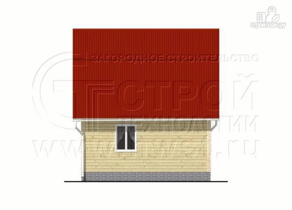Фото 8: проект дачный дом 6х6 м с крыльцом и мансардой