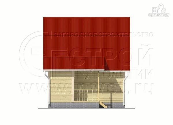 Фото 10: проект дачный дом 6х6 м с крыльцом и мансардой