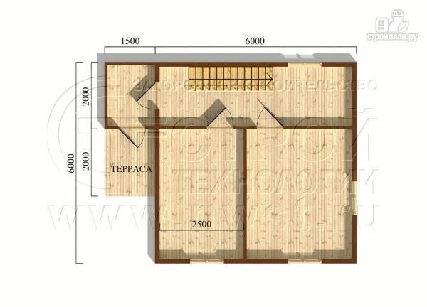 Фото 5: проект дачный дом 6х6 м с крыльцом и мансардой