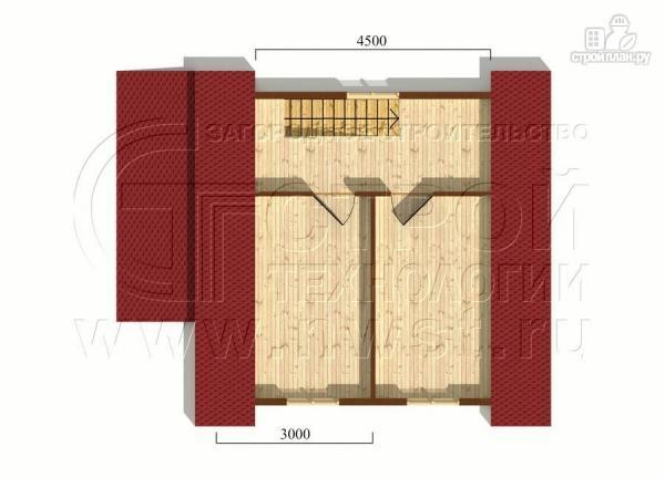 Фото 6: проект дачный дом 6х6 м с крыльцом и мансардой