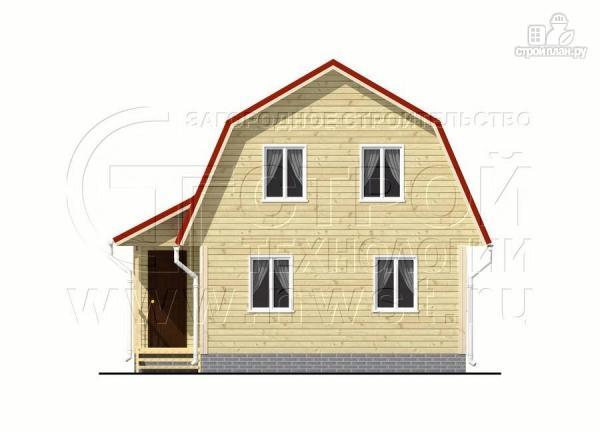 Фото 7: проект дачный дом 6х6 м с крыльцом и мансардой