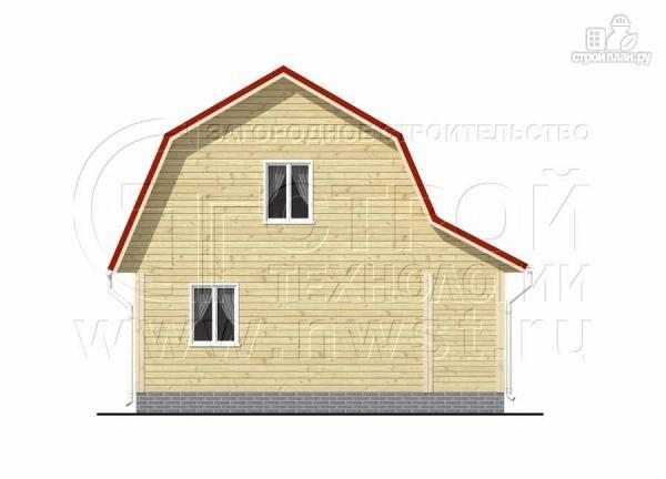 Фото 9: проект дачный дом 6х6 м с крыльцом и мансардой