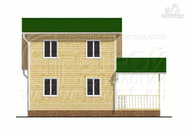 Фото 7: проект дачный дом 6х6 м с большой террасой и мансардным этажом