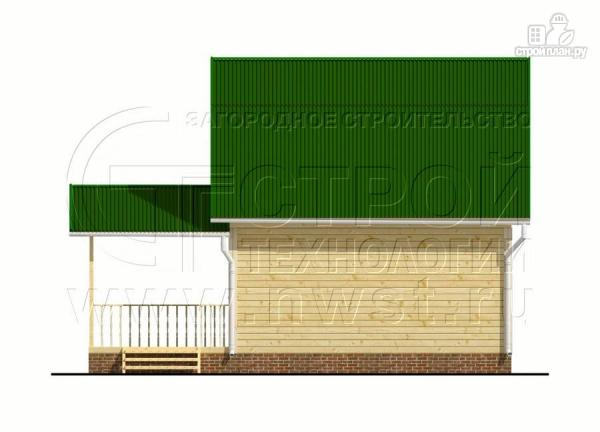 Фото 9: проект дачный дом 6х6 м с большой террасой и мансардным этажом