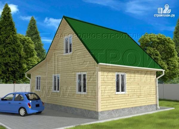 Фото 2: проект дачный дом 6х9 м из бруса