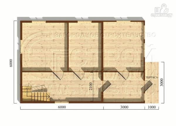 Фото 5: проект дачный дом 6х9 м из бруса